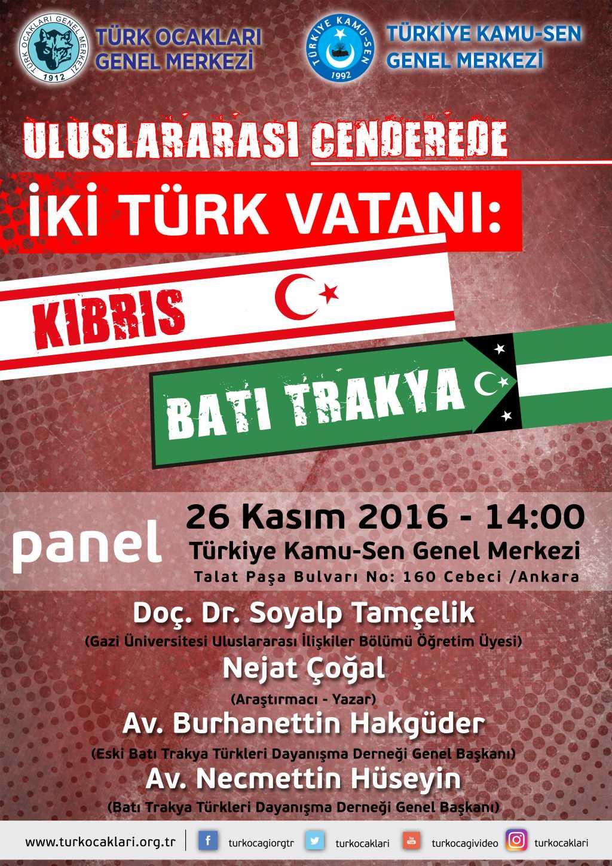 Panel – Kıbrıs ve Batı Trakya Paneli